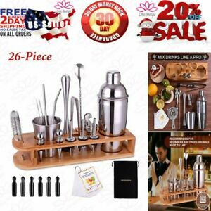 Cocktail Shaker Set Bartender Kit 26 Piece Stainless Steel Bar Tool Set with