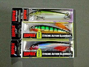 3 NEW Boxes RAPALA 2 XR 10 1 HJ10 Husky Jerk XTREME ACTION FISHING LURES