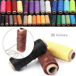 1x 50M 150D 1mm Leather Sewing Waxed Thread Wax String Craft Stitching Cord $9.60