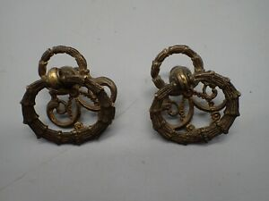 2 Antique Ornate NEW HOME Treadle Sewing Machine Drawer Pulls $19.99
