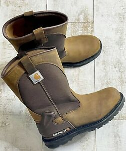 Carhartt Mens CMP1100 11 Wellington Non Safety Toe Pull On Boots 10.5W $129.00