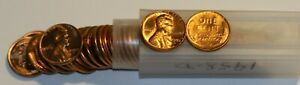 1958 D LINCOLN WHEAT CENT MINT COPPER PENNY 50 COIN ROLL BRILLIANT UNCIRCULATED