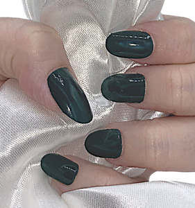 Forest Green Solid color nail polish strips ZZ85 street art wraps $4.00
