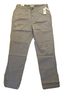 Nautica Clipper Pant mens Slim Fit flat front in Light Gray 33x32 MSRP$54.50 $11.00