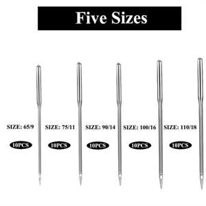50PCS Home Sewing Machine Needle 65 975 1190 14100 16 for Brother Singer Kit $5.69