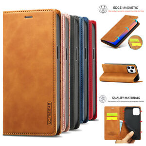 For iPhone 12 11 Pro Max XS X XR 7 8 6s Leather Wallet Case Magnetic Flip Cover $10.16