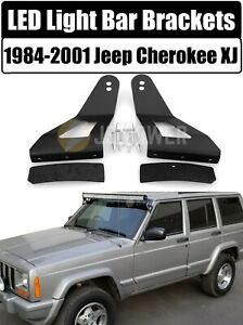 LED Mounting Brackets 52 or 50 Curved Light Bar for 1984 2001 Jeep Cherokee XJ $16.95