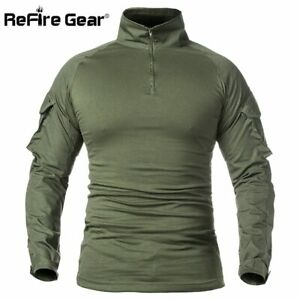 Men Army Tactical T shirt Soldiers Military Combat Long Sleeve Camouflage Shirts