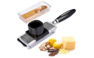 Ginger Grater Cheese Grater Lemon Zester with Storage Container Premium ....