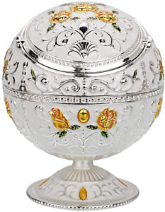 Vintage Windproof Ashtray with Lid for Cigarette Metal Portable Cigar Ash $26.21