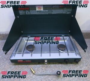 COLEMAN CAMPING STOVE MODEL 5430E 2 BURNER PROPANE PREOWNED FREE SHIPPING