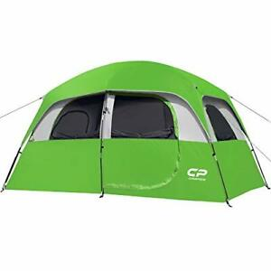 CAMPROS Tent 6 Person Camping Tents Waterproof Windproof Family Tent Green
