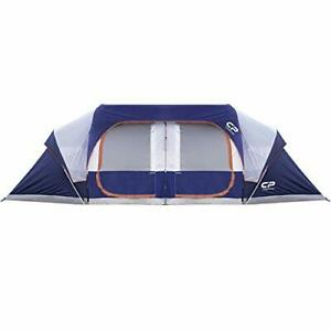 CAMPROS Tent 12 Person Camping Tents Waterproof Windproof Family Tent Blue