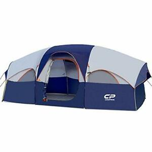 CAMPROS Tent 8 Person Camping Tents Waterproof Windproof Family Tent 5 Blue