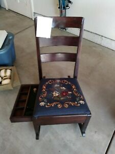 Antique sewing rocking chair. $150.00