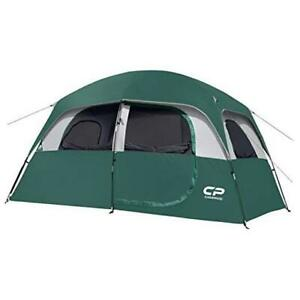 CAMPROS Tent 6 Person Camping Tents Waterproof Windproof Family Dark Green
