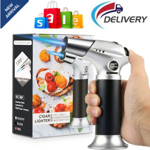 Blow Torch Professional Kitchen Cooking Torch Lock Adjustable Flame Refillable