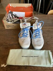 Used Men#x27;s Nike x Off White Vapormax White quot;Part 2quot; AA3831 100 Size 9
