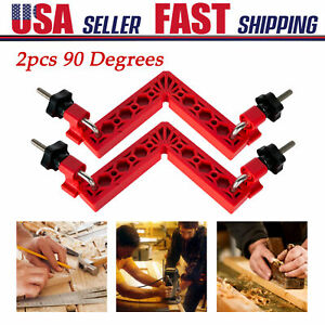 2pcs 90 Degree Positioning Squares Right Angle Clamps 150mm Carpenter Tool $24.69