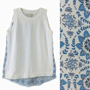 Loft womens size small sleeveless sweater front top $10.00