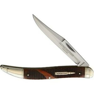 Winchester KB111W WN19102C Toothpick Brown Checkered Bone Folding Pocket Knife $24.42