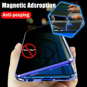 Full Glass Anti Spy Magnetic Case For Galaxy S21 S20 S10 S9 S8 Plus Note 20 10 9 $12.40