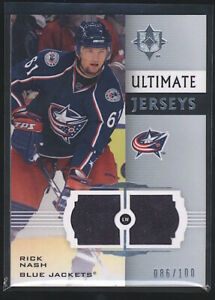 2008 Ultimate Collection RICK NASH Ultimate Jerseys Game Used Patch 100 $4.99