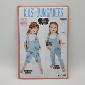 Simply Sewing Kids' Dungarees Sewing Pattern Sizes 1 Month 10 Years Sealed $8.99