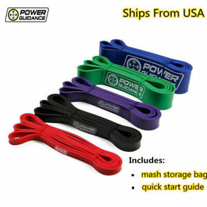 POWER GUIDANCE Pull Up Exercise Bands For Resistance Body StretchingGYM $6.99