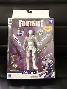Epic Games Fortnite Scratch Legendary Figure with WEAPONS 40 points Articulation $28.95