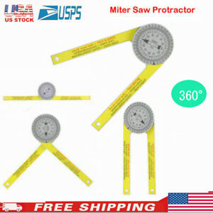 Angle Finder Miter Saw Protractor Measuring Ruler Tool Goniometer Pro Durable $8.96
