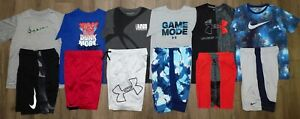 Lot 13 Boys UNDER ARMOUR NIKE Dri Fit Shirts Athletic Shorts YLG Large 14 16 $154.99