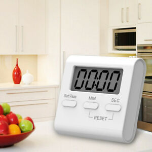 White LCD Digital Kitchen Cooking Timer Count Down Up Loud Alarm Magnetic Meter C $3.59