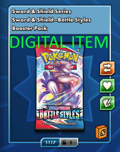50x Battle Styles Booster Pack Codes Pokémon TCG Online ptcgo sent in game $12.50