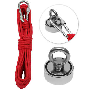 Fishing Magnet Kit 300 LB Pulling Force Strong Neodymium Treasure Hunt with Rope $9.99