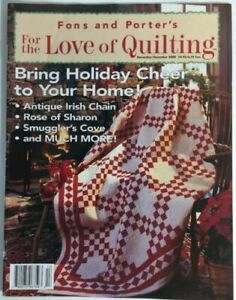 Fons And Porter#x27;s For The Love Of Quilting Magazine November December 2000 $5.00
