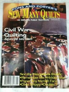 Fons amp; Porter#x27;s Love of Quilting 1999 January February Magazine $5.00