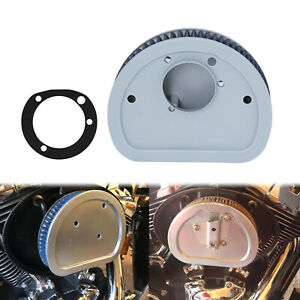 Motorcycle Air Filter Cleaner Blue Element Replacement Fit For Harley Touring $29.13