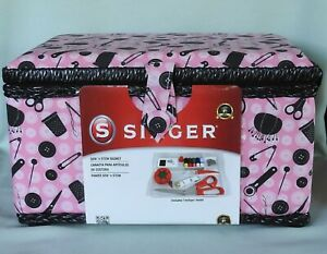SINGER Sewing Basket in Pink with Basic Notions $10.00