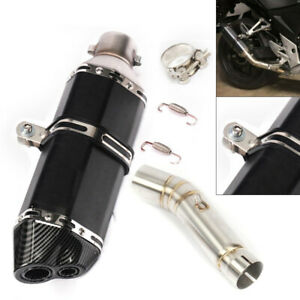 Stainless Motorcycle Exhaust Muffler Pipe Mid For Honda CBR500 CB500F 2013 2019 $74.02