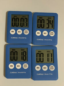 """4 Mini Magnetic Digital Countdown Timer Start Stop On Off 2""""x3"""" Cooking Time $1.25"""