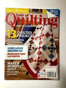 Love Of Quilting Magazine July August 2013 Fons amp; Porter $7.95