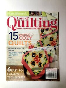 Love Of Quilting Magazine January February 2014 Fons amp; Porter $7.95