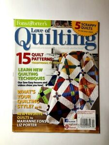 Love Of Quilting Magazine January February 2013 Fons amp; Porter $7.95