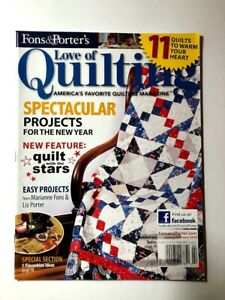 Love Of Quilting Magazine January February 2012 Fons amp; Porter $7.95