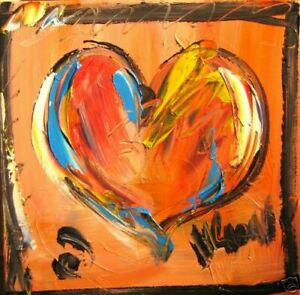 HEART LARGE ART expressionist Abstract Modern Original Oil Painting GHRTHR $149.00