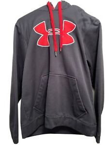 UNDER ARMOUR HOODIE MENS SIZE SMALL Black Red $12.00