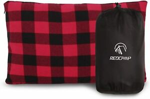 REDCAMP Small Camping Pillow Lightweight and Compressible 1PC Flannel Travel Pi