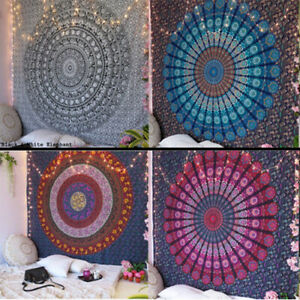 Mandala Tapestry Indian Wall Hanging Decor Bohemian Hippie Queen Twin Size New $13.99