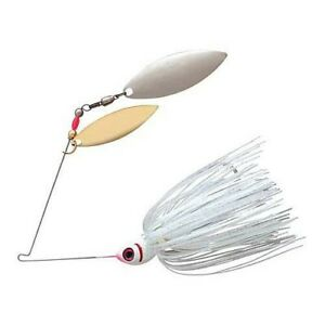 Booyah BYBW12636 Double Willow Silver Satin 1 2oz Fishing Spinnerbait Lure